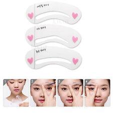 3x Eyebrow Template Stencil Shaping Liner Reusable Eye Brow Shaper Make Up DIY