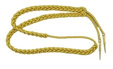 Aiguillette Gold Mylar Cord Small with Gold Barrel Tags Army R1463
