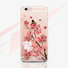 Sakura Silicone Case For iPhone XR XS Max Floral Rubber Cover iPhone 4s 5s 6s 7