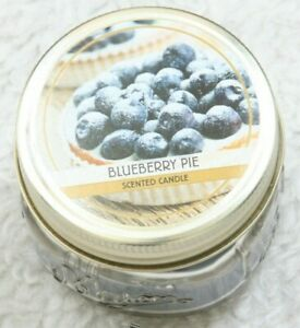 New Scented Wax Glass Jar Candle 3 Ounce 1 Wick Blueberry Pie Williamsburgh Co.
