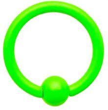 Piercing Neon anelli Verde fluo 1.2x8x3 mm Per Arcade naso capezzolo orecchio