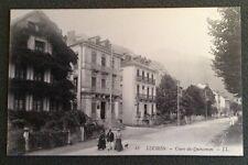 CPA. LUCHON. 31 - Cours des Quinconces. Belles Maisons.