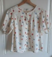 NWT Madewell Womens Sheer Dotted Floral Heyday Prose Shirt Top Size XXS 2XS READ
