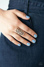 Paparazzi jewelry Vine Vibe Antiqued Shimmer Copper Filigree Ring New