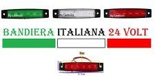 BANDIERA ITALIA LUCI 6 LED SMD 12V - 24V VOLT BIANCO ROSSO VERDE CAMION TRUCK