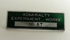 VINTAGE ADMIRALTY EXPERIMENT WORKS ENAMEL BADGE NO 67 BRITISH NAVY SUBMARINE