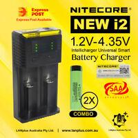 Nitecore New I2 Charger + 2x Panasonic NCR 18650 B 3400mAh Li-ion battery