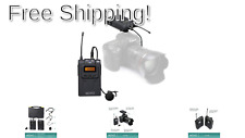Movo Wireless Uhf Lavalier Microphone System Compatible with Canon Eos 80D, 7.