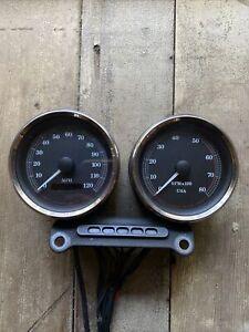 Harley Davidson Dyna Sportster Speedo Speedometer Tachometer Mount FXD FXDX FXDL