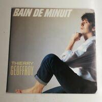 N1252 Vinyle 45 tours Thierry Geoffroy bain de minuit, amazone, 1987 Ariola