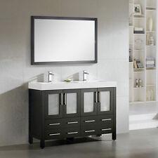 "Dowell 48"" 019 48 03 Modern Double Sink Bathroom Vanity Espresso Color"