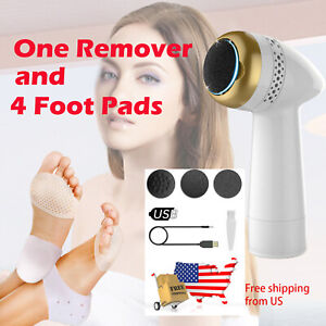 Electric Callus Remover for Feet with Vaccum Rechargeable + 4 pc of Feet Pads US