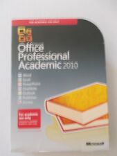 - MICROSOFT OFFICE PROFESSIONAL ACADEMIC [2010] AS NEW [DVD WITH KEY]