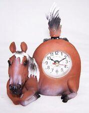 Uhr im Pferdedesign mit Wackelschwanz Uhr Pferd Horse Neu