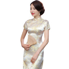 HK- Women Traditional Blossom Chinese Long Cheongsam Bridesmaid Evening Dress Sh