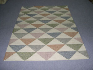 Handwoven Kilim Pastel Color 5x7 eco friendly Rugs Contemporary Afghan Bohemian