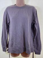 NEXT soft mauve purple long sleeve loose fit sweatshirt top size 8 euro 36