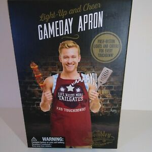 Gameday Apron Light-Up and Cheer football Tailgates and Touchdowns BBQ, New