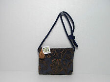 NWT MARY MULDER CARPET TAPESTRY SHOULDER BAG BLUE-YELLOW