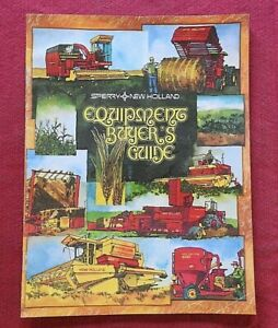 "1978 ""SPERRY NEW HOLLAND"" SALES CATALOG TR70 COMBINE 425 430 500 845 850 BALER"