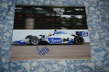 James Hinchcliffe Signed Autographed Indycar 8x10 Rookie Indianapolis 500 photo