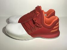 the latest 9f421 20157 Adidas Harden Vol 1 Mens Athletic Basketball Shoes Sz 20 Red White NEW