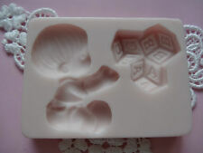 Baby with cubes silicone mold fondant cake decorating APPROVED FOR FOOD