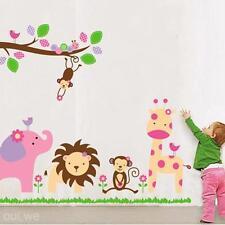 Removable DIY Wall Decor Vinyl Decal Sticker Jungle Animals Nursery Kids Art New