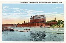 Hollingsworth & Whitney Paper Mills Kennebec River Waterville Me Postcard U/P Wb