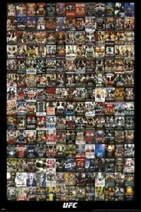 Official UFC BICENTENNIAL POSTER Thumbnails for PPV #1-200 on One 24x36 Poster