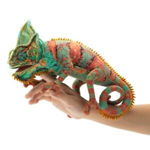 SMALL CHAMELEON PUPPET 3153~ in USA ~ Folkmanis Puppets