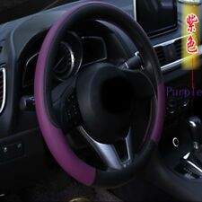 "15"" Breathable Anti-slip Sleeve Embossing Leather Car Steering Wheel Covers"