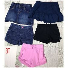 HUGE LOT BABY Girl USED  CLOTHES 17 PIECES Denim Jeans, Shorts, Skirts 2T-4T