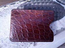Wild Alligator Sport Money Magnetic Clip Card case gator swamp Brown F22