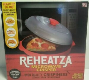 Reheatza Microwave Crisper As Seen on TV Allstar Innovation OPEN BOX