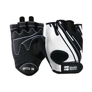 WEIGHT LIFTING GYM GLOVES WORKOUT FITNESS CYCLING CROSSFIT TRAINING WHITE