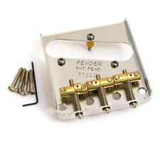 Genuine Fender Hot Rod Vintage 3-saddle Telecaster/Tele Bridge 009-1114-049