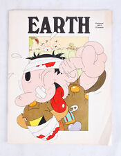 Vintage EARTH MAGAZINE January, 1971, w Bob Zoell, R Crumb Cartoon, Krishna