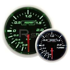 PROSPORT 52mm SUPER fumato Verde e Bianca Turbo Boost Gauge BAR