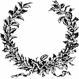 Christmas - Garland Unmounted Clear Stamp Approx 75x75mm