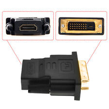 DVI-D (24+1) 25 Pin Male To HDMI Female Adapter Connector Gold Plated Stylish