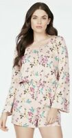 Just Fab BABY PINK Floral Romper XL NWT $56.95  SUMMER