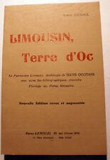LIMOUSIN/TERRE D'OC/R.JOUDOUX/REVUE LEMOUZI/1978/TEXTES OCCITANS