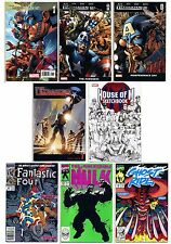 Fantastic Four Ghost Rider House of M Sketchbook Hulk Ultimates 1 & 2, Lot of 8