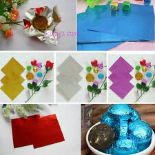 10cm 900 PCS Square Sweet Candy Package Foil Paper Chocolate Lolly Foil Wrappers