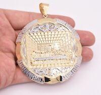 "3 1/2"" HUGE Apostles Last Supper Pendant Diamond Cut Real 10K Yellow White Gold"
