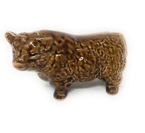 Vintage Treacle Glaze Highland Cow Figurine