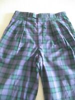 """Paul Smith Men's Check Trousers Green Purple Red Golf Sports W:33"""" L:30"""""""