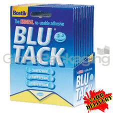 12 x 60G PACKS OF QUALITY BLUE TACK *BOSTIK BLU TACK* -24HR COURIER DELIVERY