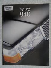 Volvo 940 Brochure. 1995. Saloons & Estates - L, S, SE. 2.3 litre, Turbo, TurboD